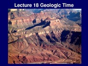 Lecture 18 - Geologic Time