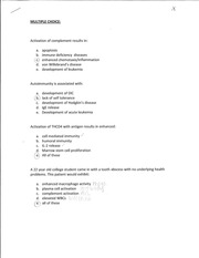 Hematology Practice Multiple Choice