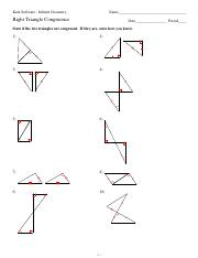 Right Triangle Congruence Pdf Kuta Software Infinite Geometry Name Right Triangle Congruence Date Period State If The Two Triangles Are Congruent If Course Hero