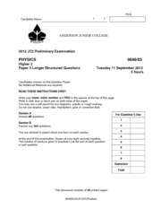2012 AJC Prelim H2 Physics P3