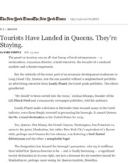 Tourists Have Landed in Queens. They're Staying. - The New York Times