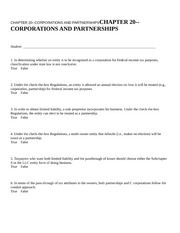 CHAPTER 20--CORPORATIONS AN