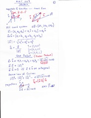 Notes of Vectors and arc length