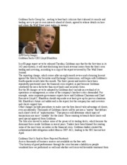 Goldman Sachs Group Inc WSJ 1-10-11