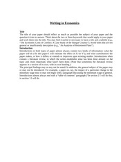 Guide - Writing in Economics