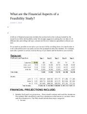 Financial Aspects of a Feasibility_1.docx