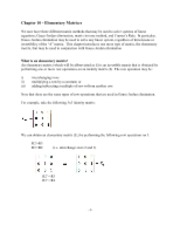Chapter 10 - elementary matrices