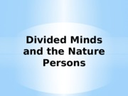 Divided Minds and the Nature Persons