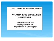 Lecture 2_Atmospheric Circulation and Wind systems