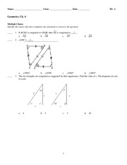 Geom Review 13-14 sem 1 - no answers - Name Class Date Geometry ...