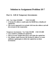 Solution to Assignment Problem 18-7,3