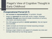 8)Cognition in Early Childhood