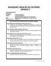 1 3 (EPIKO) docx - BANGHAY ARALIN SA FILIPINO GRADO 7 UNANG MARKAHAN