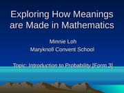 Exploring How Meanings are Made in Mathematics Unpacking Nominal Groups