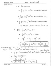 Math 122 Quiz 4 Version 1 Solutions