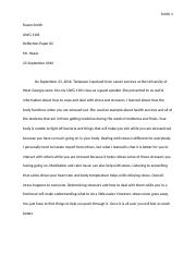 UWG 1101 Reflection Paper #2