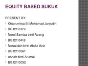 EQUITY BASED SUKUK