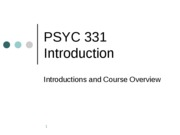 PSYC 331 Intro and Lecture 1 -- ELMES