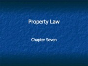 Legal Studies 2700 Property Law Slides