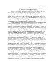 6 Dimensions of Wellness(JACK)