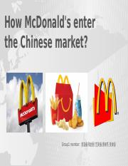 How McDonald's enter the Chinese market.pptx