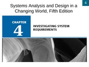 Chapter 4- Investigating System Requirements