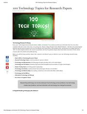 100 Technology Topics for Research Papers.pdf