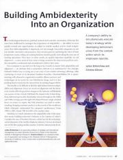 12.7 - Birkinshaw and Gibson - 2004 - Building ambidexterity into an organization.pdf