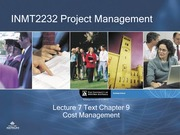 Lecture 8 Cost management