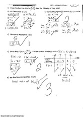 Curve Sketching of Rational Functions quiz