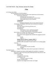 Test 3 Review - Lecture Notes - Film, TV, Internet