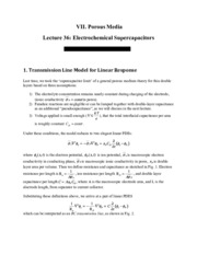 Electrochemical Supercapacitors notes
