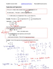Eigenvalues and Eigenvectors (completed)