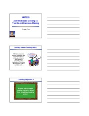 Chapter 5 - Activity-Based Costing