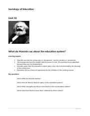 10 Marxism and education