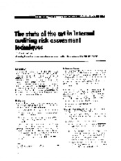 1995 - The state of the art in internal auditing risk assessment techniques