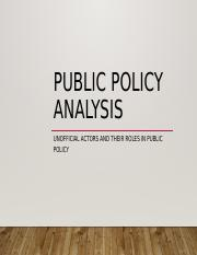 Unofficial Actors and Their Roles in Public Policy.ppt