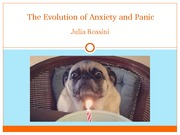 Evolution of anxiety and panic