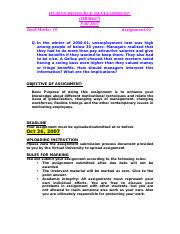 Human Resource Development - HRM627 Fall 2007 Assignment 01