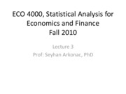 Lecture 3 Prof Arkonac's slides (Ch 2,3 and a little 4) for Eco 4000