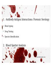 66 Pages Blood Spatter