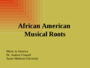 05 Early African American music