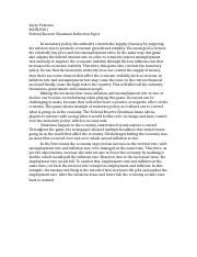 E201 Federal Reserve Chairman Reflection Paper.docx