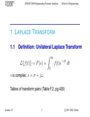 Lecture 15 - Oct.31.2013 - Laplace Transform