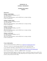 CHEM 110 Outline-F2013