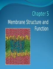 Ch. 5 Cell Membrane F17.ppt