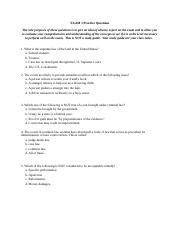 Practice Questions - BL Exam 1