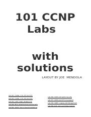 101 CCNP Labs Solutions docx - 101 CCNP Labs with solutions LAYOUT