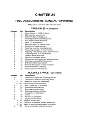 Advanced Accounting Chapter 24