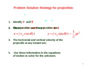 Lesson 1.5 Relative Motion and Problem Solving